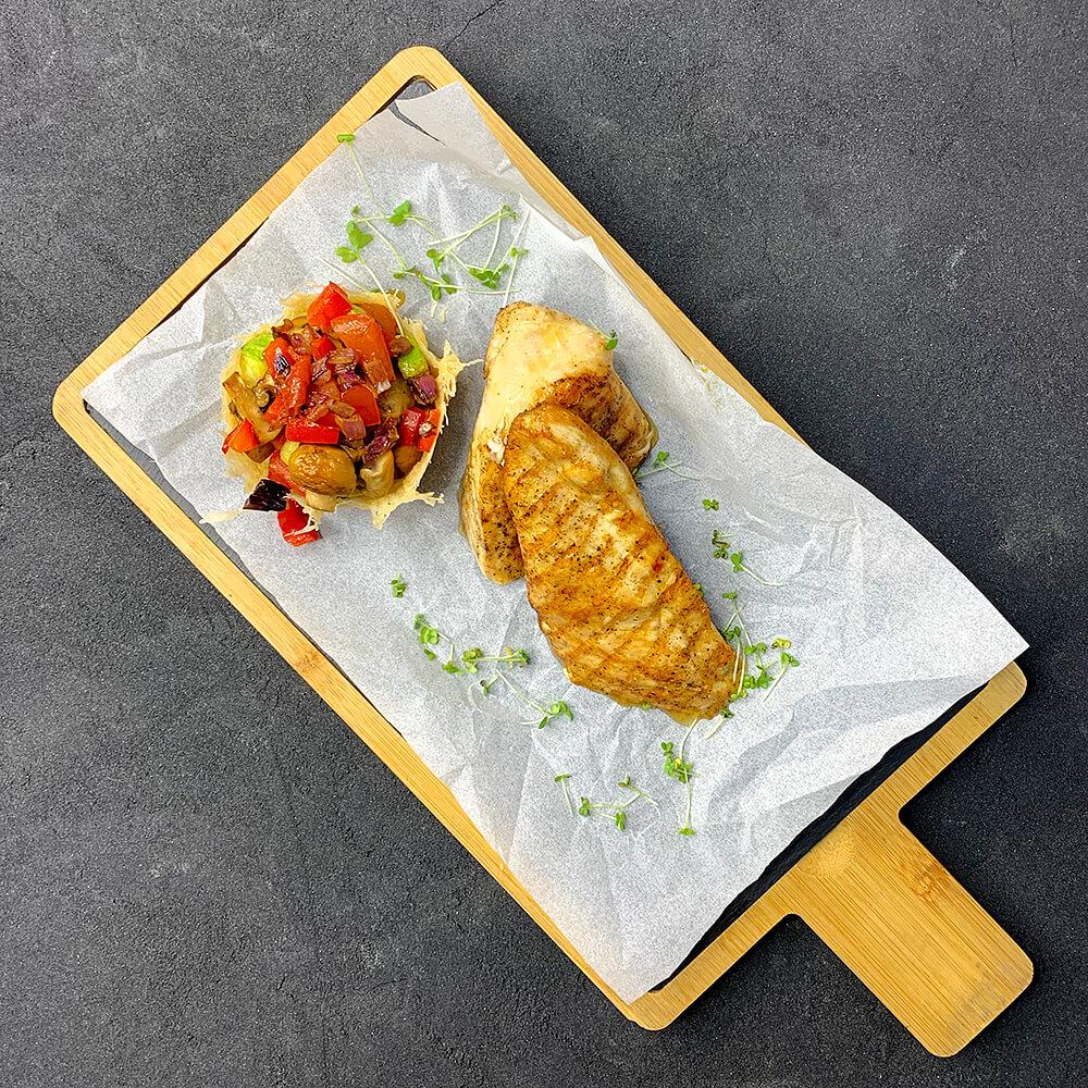 Стейк із курки з овочами